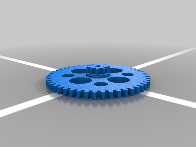 Stacked 10 on 48 tooth involute spur gear, 24 diametral