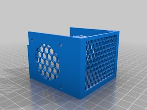 Remix of Anycubic i3 Mega Fan Shroud with honeycomb front for visibility