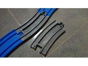 Plarail compatible half R-03 Curve M/F L/R (Non-standard)