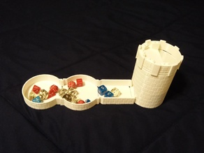 Dice tower and carrier tray extenders
