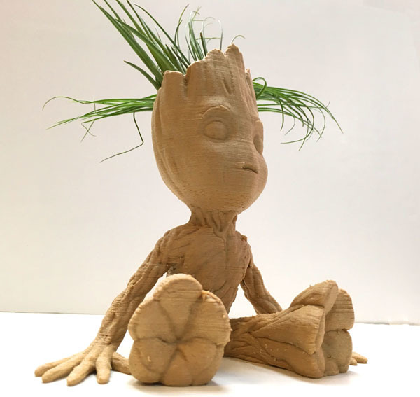 Baby Groot Air Plant Planter by JuliaTruchsess - Thingiverse