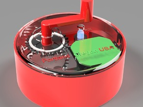 PowerPuck Hand-Cranked USB Charging Enclosure (IKEA flashlight hack)