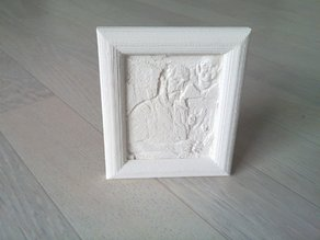 2D > 3D Photo relief + frame 68x83mm hang/stand vertical/horizontal