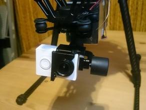 Xiaomi Yi - Jiyi G3-3D gimbal adapter