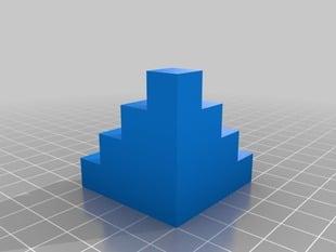 10mm Calibration Cube Steps without bridges