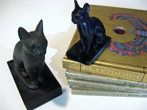 Scan of Replica Egyptian Cat Statue