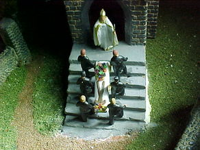 SCALEPRINT PALLBEARERS AND CASKET 00 HO SCALE