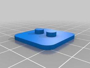 Lego 3x3 Baseplate for Lego Minifigure (with 2 centered studs)