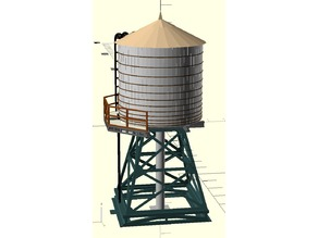 Rooftop Water Tank Model (printable/customizable)