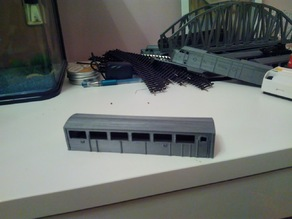 Santa Fe - Super Chief - F-series, PASSENGER CAR -  scale model train in HO (1:87)