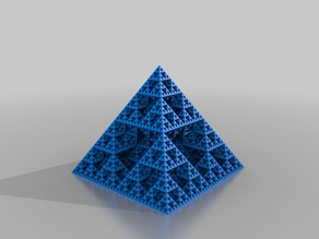 My Customized spiral vase Sierpinski pyramid (Openscad)