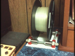 Universal filament spool cradle with endcaps