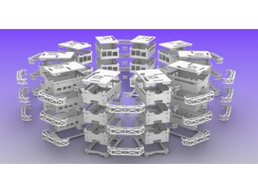 Raspberry Pi 4 Modular Radial Stacking Cluster Array