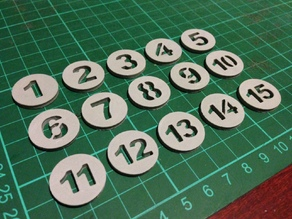 Kelly Pool Tokens Numbered 1-15 (v2)