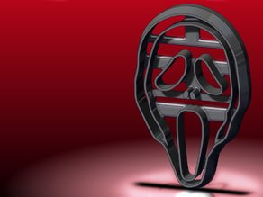Scream Mask Cookie Cutter
