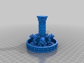 28mm or 30mm RPG Gargoyle Fountain Variant
