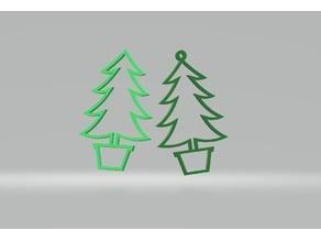 Christmas tree figures (hanging)