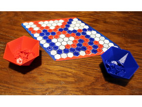 Hex Game [Board+Pieces+Bowls]