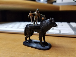 Riding Wolf for small D&D figures
