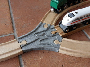 3x switch for wooden railroad