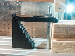 Parametric clamping blocks with stairs for CNC