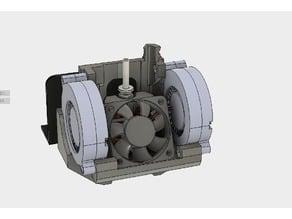 ultimate creality cr10 ender 2 3 double blower fan mount (stock hotend)(EZABL)