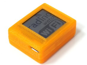 "Housing for Arduino compatible microcontroller with WiFi, LCD-Display, 9 axis sensor and Accumulator; ""radino Watch"""