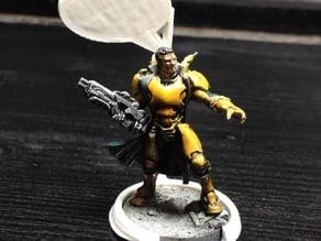 Basehugger to mark tabletop miniatures