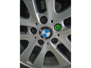 wheel lock cap for BMW vehicles
