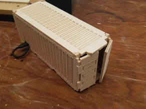 CNC'd Shipping Container Box