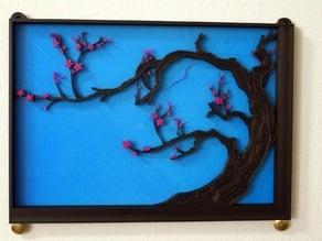 Japanese Cherry Tree Painting - Horizontal