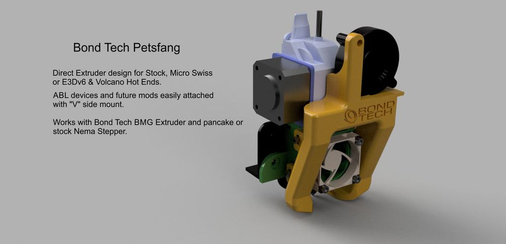 Petsfang Bowden Direct with Bondtech BMG for CR10/S/4, Ender3 and