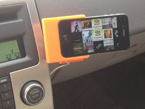 Rotating Car Charger-Holder for iPhone 4 4S with Magnets