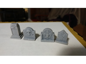 Detailed Grave stones for Minature bases and scenery