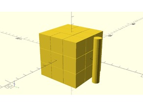 Blank face Rubik Cube