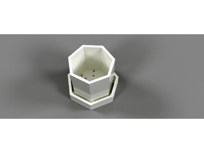 Simple Heptagonal Planter with Tray
