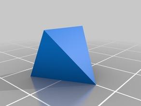 My Customized [Parametric] Pyramids (easy to print)