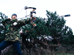 Bow stabilizer - W/ carbon arrow shafts, shock absorber and customizable looks and weight