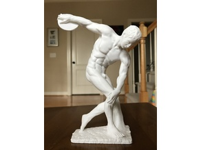 Muscular discobolus almost no support