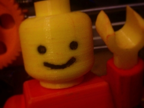 Head Smiling for Minifig