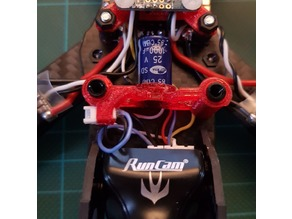 XHover Stingy frame - Capacitor and Runcam Extender wire connector support