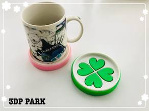 Lucky Clover Soap Box and Coaster