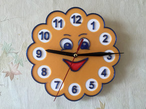 "Wall clock in the children's room ""Sun"""