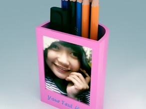 Pen Stand with Customizable text-Photo Frame