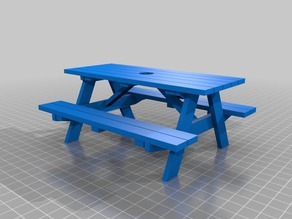 3DBear Picnic table - a picnic table remix