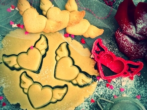 Heart Wings Cookie Cutter (Valentine's Day Collection)