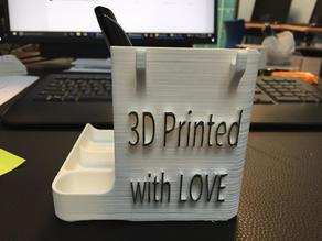 Desk organizer sticky note post-it holder - 3D printed with LOVE