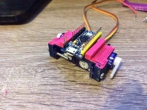 Dual servo combo with Arduino Pro Micro mount