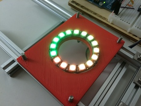 NeoPixel 16 RGB LED Ring - Mounting Plate for Makerbeam T-Slot System