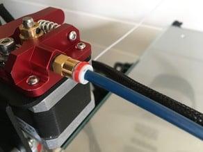 Bowden tube coupler clip